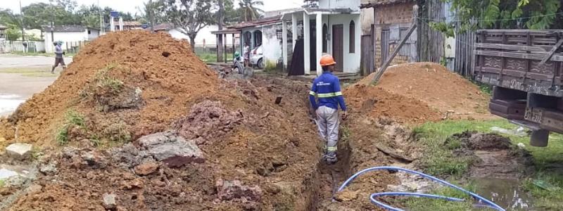Implantação 700 metros de rede de água garante melhoria do abastecimento no Arapari, em Barcarena